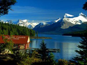 Lac Maligne, Jasper, Alberta.