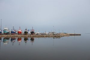 Mer.  Bateau,  Nouveau-Brunswick,  port côte marine, Canada