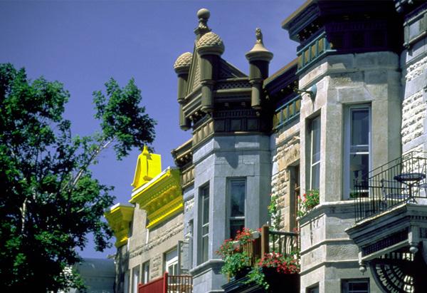 Montréal, résidences bourgeoises fin XIXième siècle.
