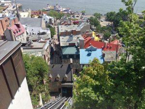 Vieux Québec,  funiculaire,  fleuve,  bateau