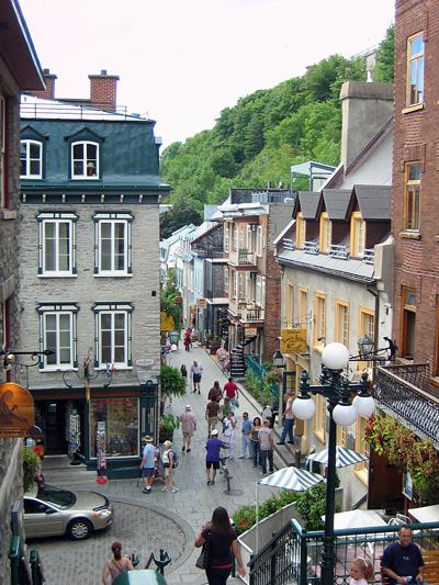 Vieux-Québec, partie basse, rue Sault-aux-Matelots.