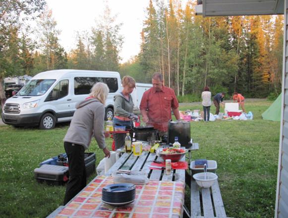 Camp de base excursion Colombie Britannique, Canada